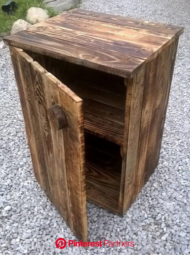 Build Your Own Pallet Nightstand  Build Your Own Pallet Nightstand | 99 Pallets  The post Bu… | Pallet night stands, Wooden pallet projects, Wooden pa