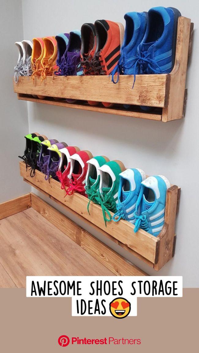Awesome Shoes Storage Ideas???? in 2021 | Diy shoe storage, Wooden shoe racks, Diy furniture