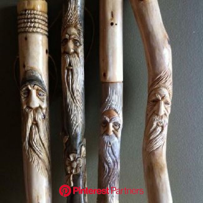 Hiking Sticks #woodcarving #woodsprite | Hand carved walking sticks, Walking sticks, Wooden walking sticks