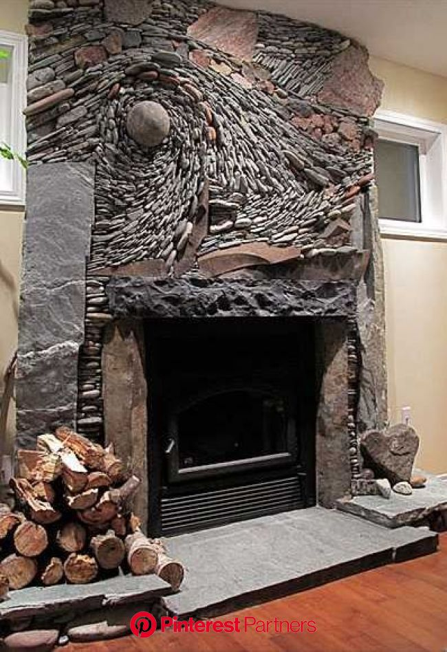 Decorative Stone Wall : 24 Awesome stone wall ideas | River rock fireplaces, Rock fireplaces, Stone decor