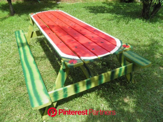 DIY Home Projects - Backyard Ideas | Painted picnic tables, Picnic table, Backyard projects