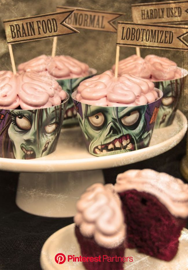 Free Zombie Cupcake Printables! | Birthday Express | Halloween food for party, Zombie cupcakes, Food