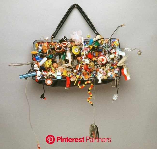 Lisa Kokin | Mixed Media Sculpture with Recycled Materials - It's In Here Somewhere | Found object art, Recycled art, Mixed media