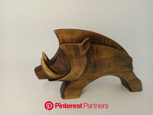 Wooden boar 4 Carved wild boar Wild boar figurine | Etsy in 2021 | Wood statues, Wood carving, Wooden sculpture