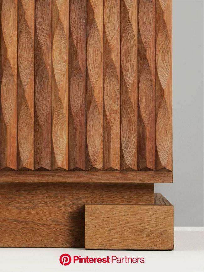 Blond Brutalist Highboard in Oak 6 | Wood patterns, Wooden art, Wood joinery