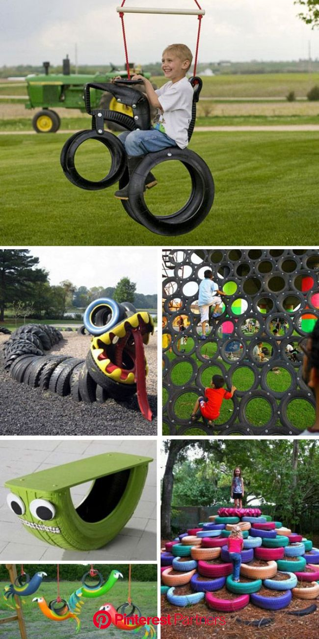 recycled tire play equipment | Diy playground, Tire playground, Tyres recycle
