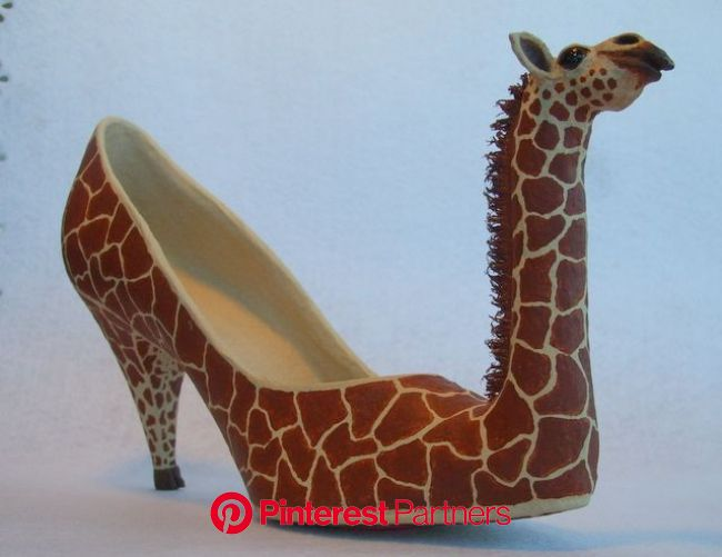Paper Mache Giraffe Shoe | Funny shoes, Funky shoes, Crazy shoes