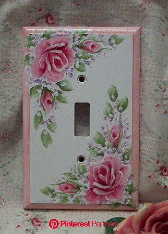 decoupage light switch plates {tutorial}   Jones Design Company   Shabby chic diy, Shabby chic crafts, Shabby chic room