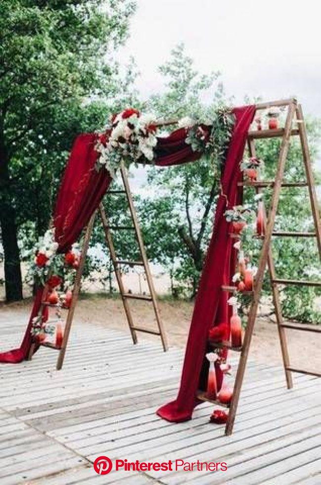 The Best Red Wedding Ideas | Domino | Wedding decor, Decoração casamento rustico, Casamentos no quintal
