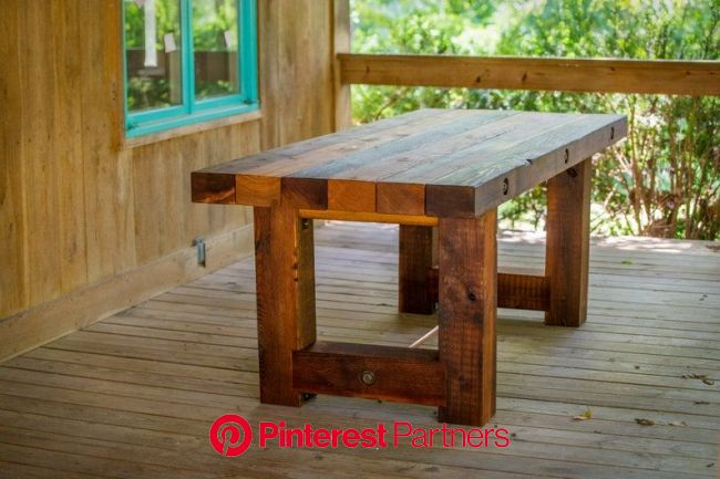 Outdoor Wood Dining Patio Table Rustic Reclaimed Salvaged   Etsy in 2021   Wood bench outdoor, Rustic outdoor furniture, Rustic wood bench