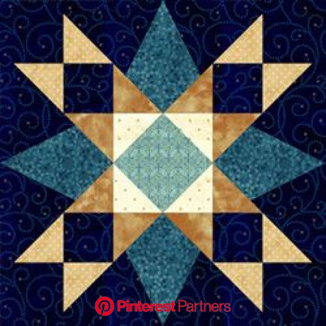 First Star I've Seen Tonight. Pam Bono block design. Pattern no longer available. | Barn quilt patterns, Barn quilts, Star quilt blocks