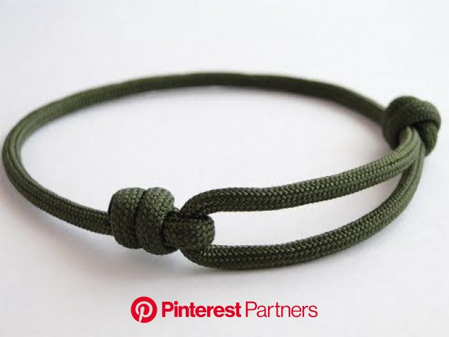 How to Make a Simple Single Strand Friendship (Version 2-Improved Sliding Knot) Bracelet… | Sliding knot bracelet, Paracord bracelet tutorial, Paracor