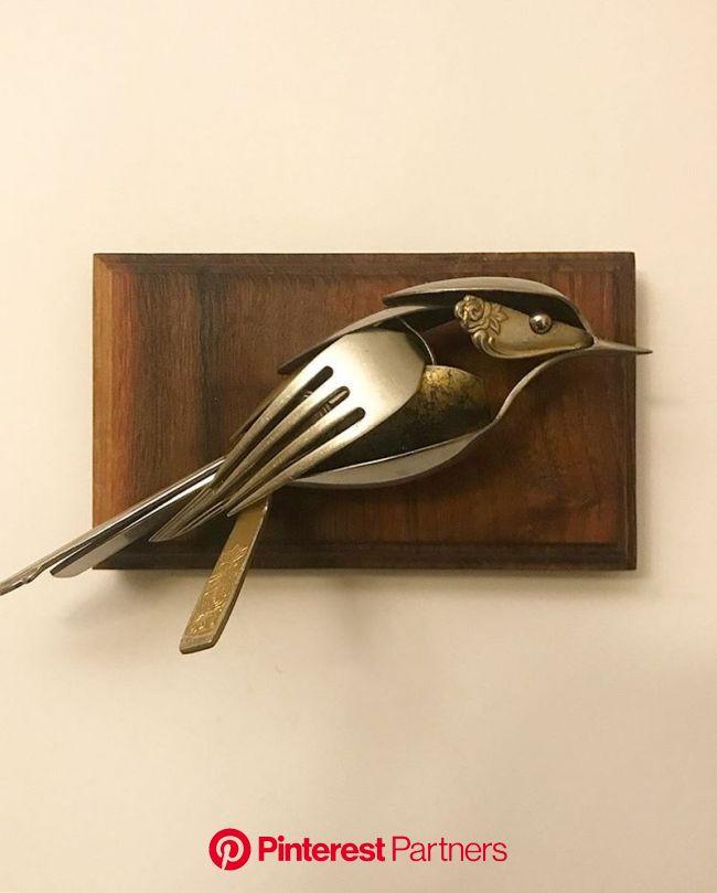 Matt Wilson Turns old Cutlery into Unique Metal Sculptures | Welding art projects, Welding art, Metal welding