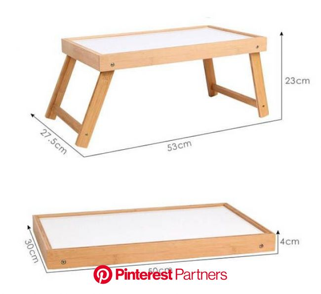 Material: Wooden alder Size: Approx. 50x30x4cm/19.69x11.81x1.57 (Folding)  It does a great job of serving it. Whether you are e… | Bed tray diy, Bed t