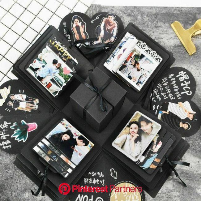 *Surprise Explosion Box in 2021 | Surprise box gift, Photo album diy, Diy handmade album