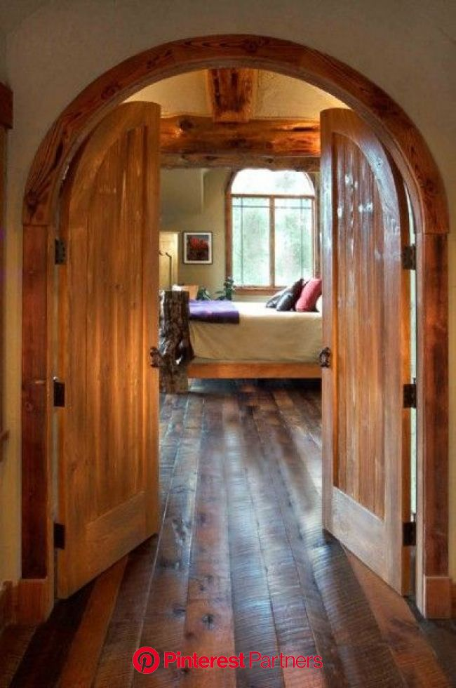 I would love to have a doorway like this! It gives a romantic feeling | Ranch house, Rustic house, House