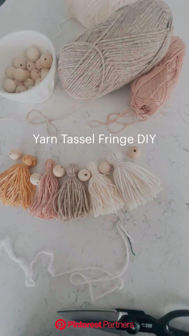 Yarn Tassel Fringe DIY | Pinterest