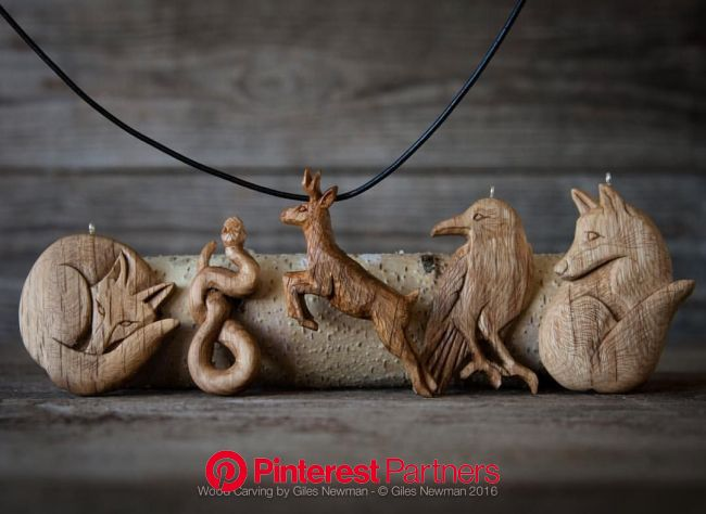 Hand Carved Wooden Pendants by Giles Newman | Wood carving designs, Wood jewelery, Wood carving art