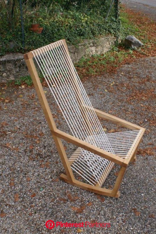 Fauteuil à bascule avec assise en cordelette #1 par Boris Beaulant | Mobilier extérieur en palettes, Fauteuil à bascule, Mobilier de salon