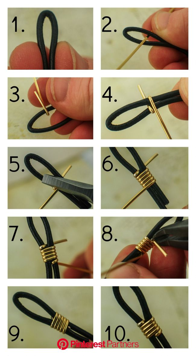 How to Finish Leather Cord with Wire | Handmade jewelry, Jewelry projects, Jewelry tutorials